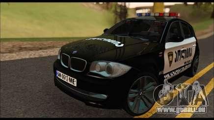 BMW 120i GEO Police für GTA San Andreas