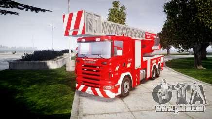 Scania R580 Belgian Fireladder [ELS] für GTA 4