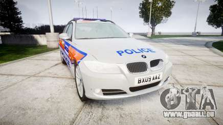 BMW 325d E91 2009 Metropolitan Police [ELS] für GTA 4
