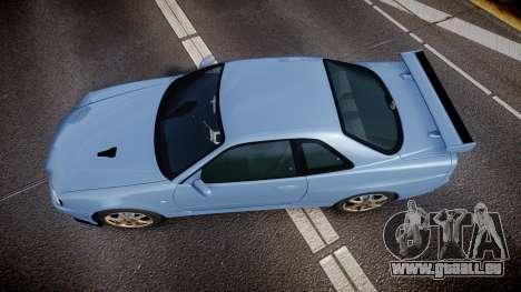 Nissan Skyline R34 GT-R V.specII 2002 pour GTA 4 est un droit