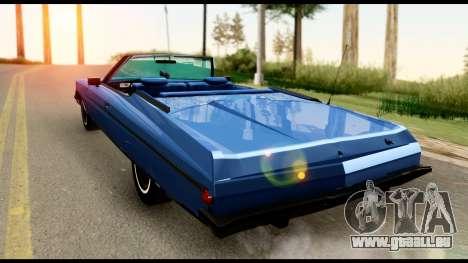 Chevy Caprice 1975 Beta v3 pour GTA San Andreas laissé vue