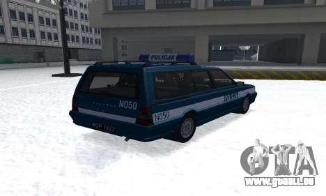 Daewoo-FSO Polonez Kombi 1.6 GSI Police 2000 pour GTA San Andreas sur la vue arrière gauche