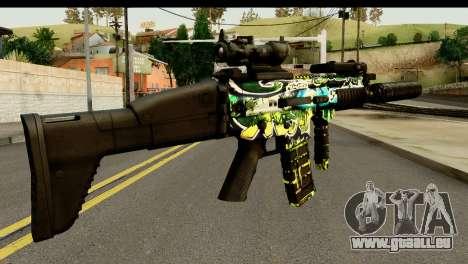 Grafiti M4 pour GTA San Andreas deuxième écran