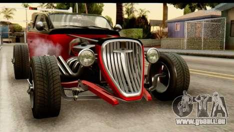 GTA 5 Hotknife SA Mobile pour GTA San Andreas sur la vue arrière gauche