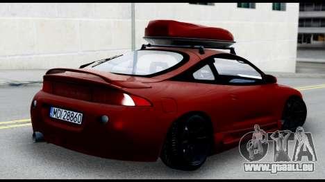 Mitsubishi Eclipce pour GTA San Andreas laissé vue