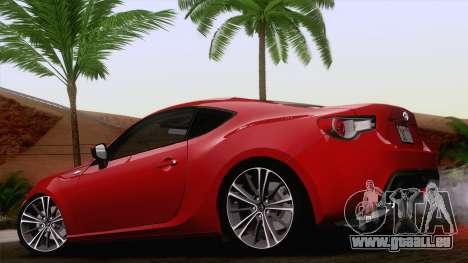 Toyota GT86 (ZN6) 2012 pour GTA San Andreas laissé vue