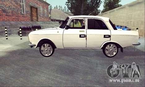 Moskvitch 412 Blanc Hirondelle pour GTA San Andreas laissé vue