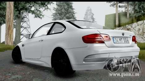BMW M3 E92 Hamann Edition für GTA San Andreas linke Ansicht