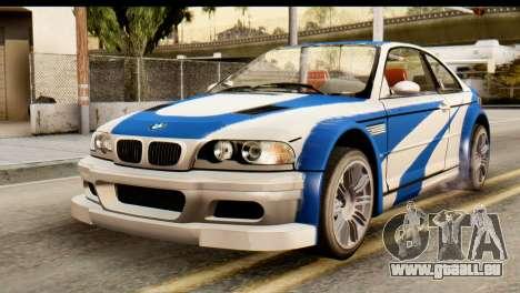 BMW M3 E46 GTR NFS MW für GTA San Andreas