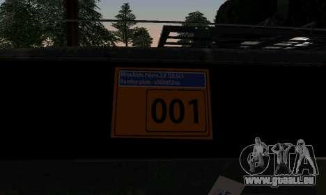 Mitsubishi Pajero Off-Road pour GTA San Andreas vue arrière