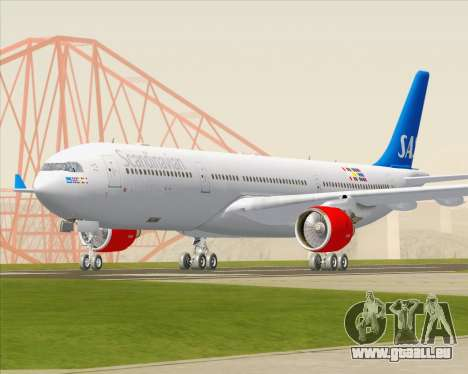 Airbus A330-300 Scandinavian Airlines pour GTA San Andreas vue arrière
