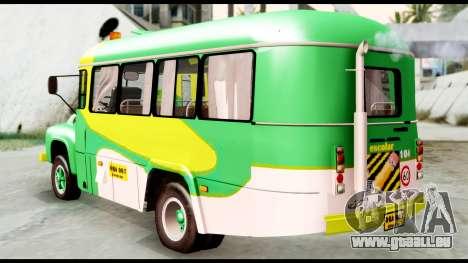 Ford Bus 1956 pour GTA San Andreas laissé vue