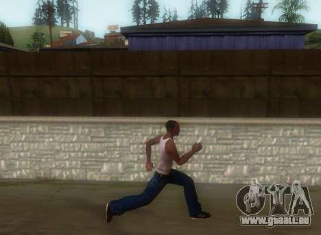Réaliste de la démarche pour GTA San Andreas troisième écran