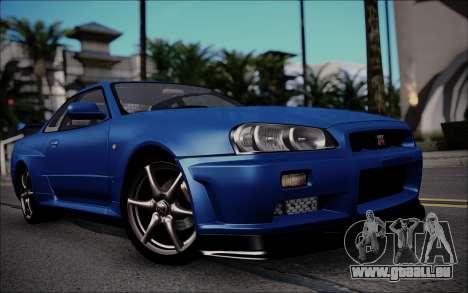 Nissan Skyline GT-R V Spec II 2002 für GTA San Andreas linke Ansicht