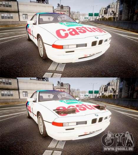 BMW E31 850CSi 1995 [EPM] Castrol White für GTA 4 Seitenansicht