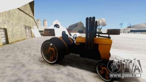 Tractor Kor4 v2 pour GTA San Andreas sur la vue arrière gauche