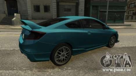 Honda Civic Si 2013 v1.0 pour GTA 4 est une gauche