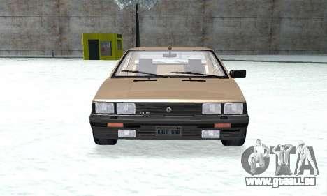 Renault 11 Turbo Phase I 1984 pour GTA San Andreas vue de droite