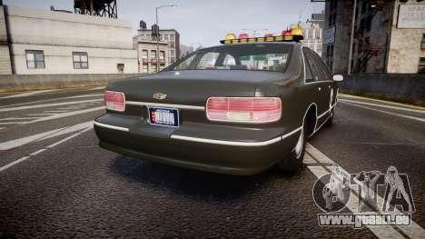 Chevrolet Caprice 1993 Detroit Police pour GTA 4 Vue arrière de la gauche