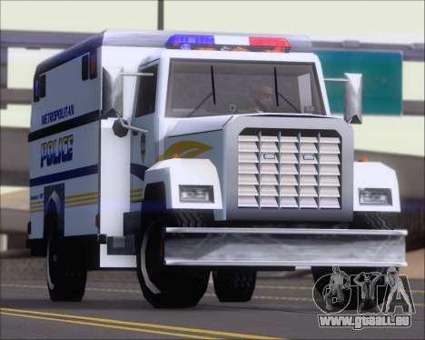 Enforcer Metropolitan Police für GTA San Andreas Innenansicht
