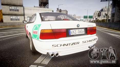 BMW E31 850CSi 1995 [EPM] Castrol White für GTA 4 hinten links Ansicht