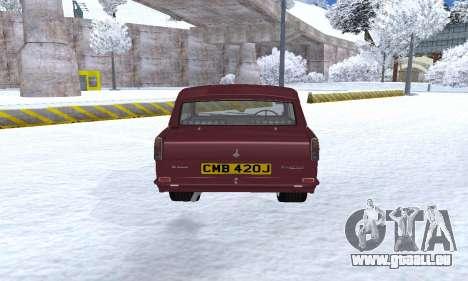 Reliant Regal Sedan für GTA San Andreas rechten Ansicht