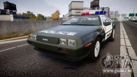 DeLorean DMC-12 [Final] Police pour GTA 4