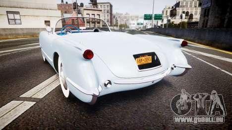 Chevrolet Corvette C1 1953 stock pour GTA 4 Vue arrière de la gauche