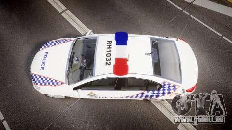 Holden VF Commodore SS Queensland Police [ELS] für GTA 4 rechte Ansicht