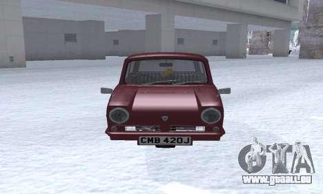 Reliant Regal Sedan pour GTA San Andreas laissé vue