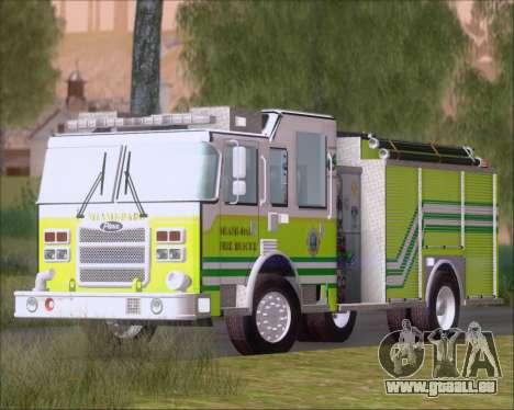 Pierce Arrow XT Miami Dade FD Engine 45 pour GTA San Andreas