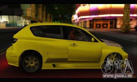 Mazda Speed 3 Tuning für GTA San Andreas rechten Ansicht