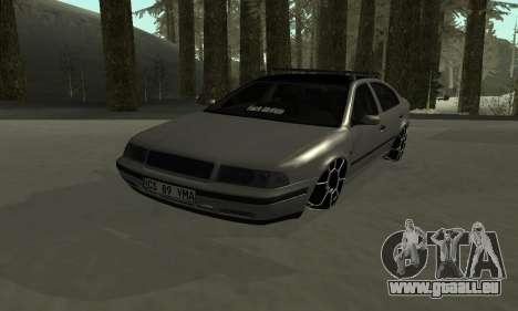 Skoda Octavia Winter Mode für GTA San Andreas Unteransicht