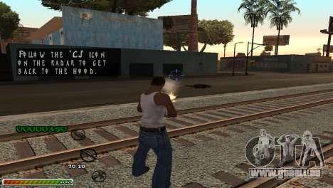 C-HUD Wonderful pour GTA San Andreas troisième écran