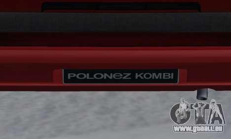 Daewoo FSO Polonez P-120 Concept 1998 pour GTA San Andreas moteur