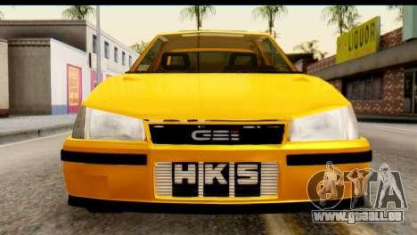 Opel Kadett GSI Drag 2015 für GTA San Andreas rechten Ansicht