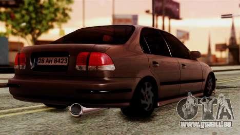 Honda Civic 1.6 pour GTA San Andreas laissé vue