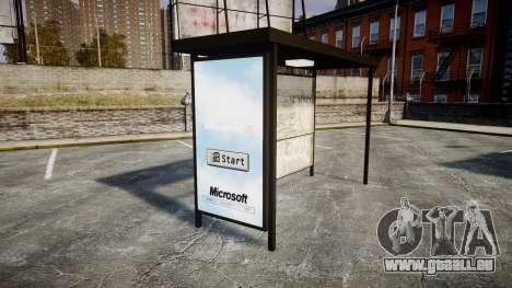 Werbung Windows 95 an Bushaltestellen für GTA 4 dritte Screenshot