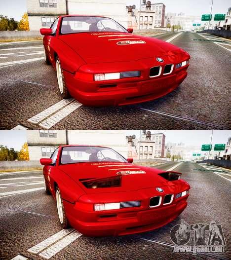 BMW E31 850CSi 1995 [EPM] Castrol Red pour GTA 4 est un côté