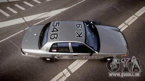 Ford Crown Victoria Sheriff K-9 Unit [ELS] für GTA 4 rechte Ansicht