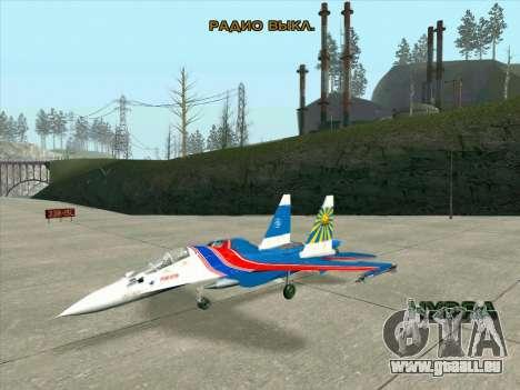 SU-30 MK 2 pour GTA San Andreas laissé vue