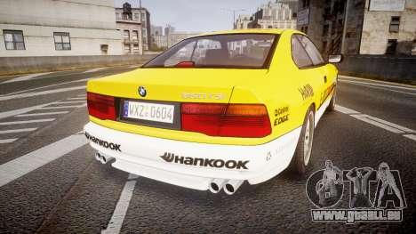 BMW E31 850CSi 1995 [EPM] E-Post Brief pour GTA 4 Vue arrière de la gauche