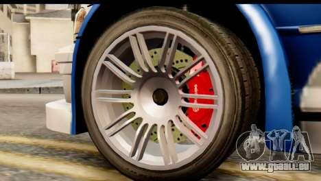 BMW M3 E46 GTR NFS MW für GTA San Andreas zurück linke Ansicht