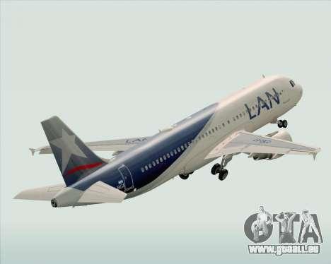 Airbus A320-200 LAN Argentina pour GTA San Andreas vue de dessus