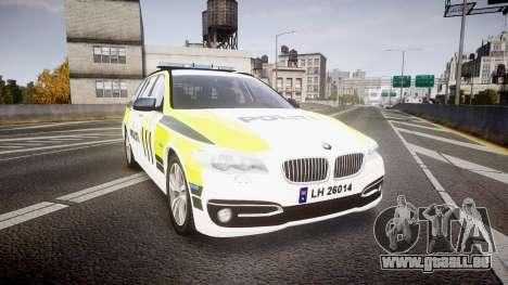 BMW 530d F11 Norwegian Police [ELS] für GTA 4