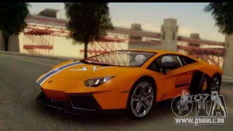 Lamborghini Aventador für GTA San Andreas Seitenansicht