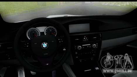 BMW M3 E92 Hamann Edition für GTA San Andreas zurück linke Ansicht