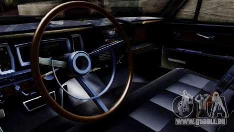 Lincoln Continental für GTA San Andreas rechten Ansicht