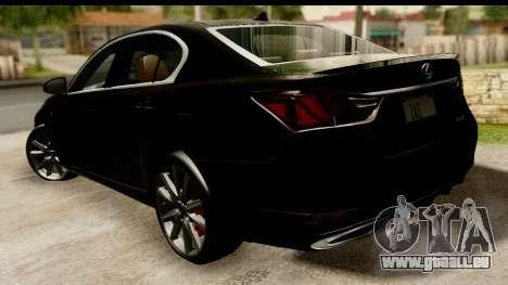 Lexus GS350 Indonesian Police pour GTA San Andreas laissé vue