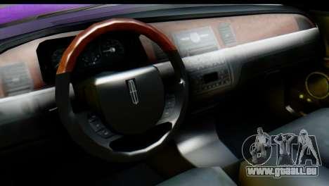 Lincoln Town Car 2010 pour GTA San Andreas vue de droite